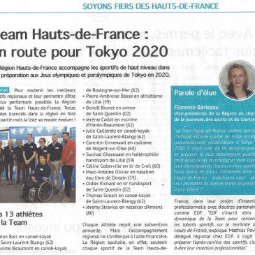 TEAM HAUTS-DE-FRANCE / En route pour TOKYO 2020
